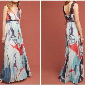 Pleated Atelier Maxi Dress by Geisha Designs Sz 8